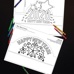 2020 Printable New Year's Eve Crown