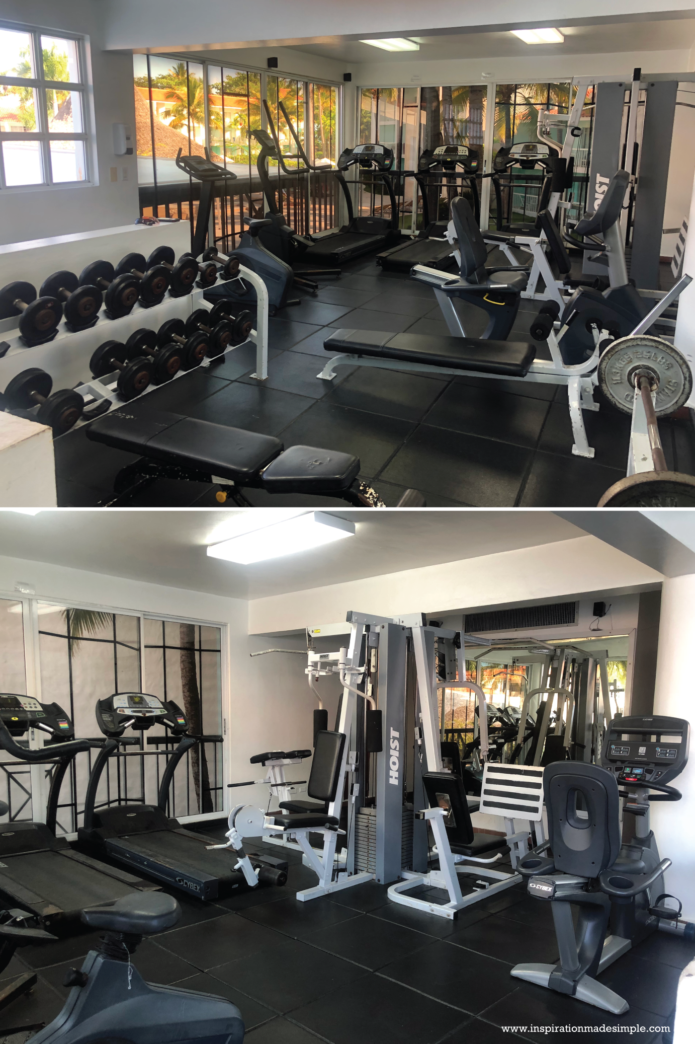 Gym at the VH Gran Ventana Beach Resort in Dominican Republic