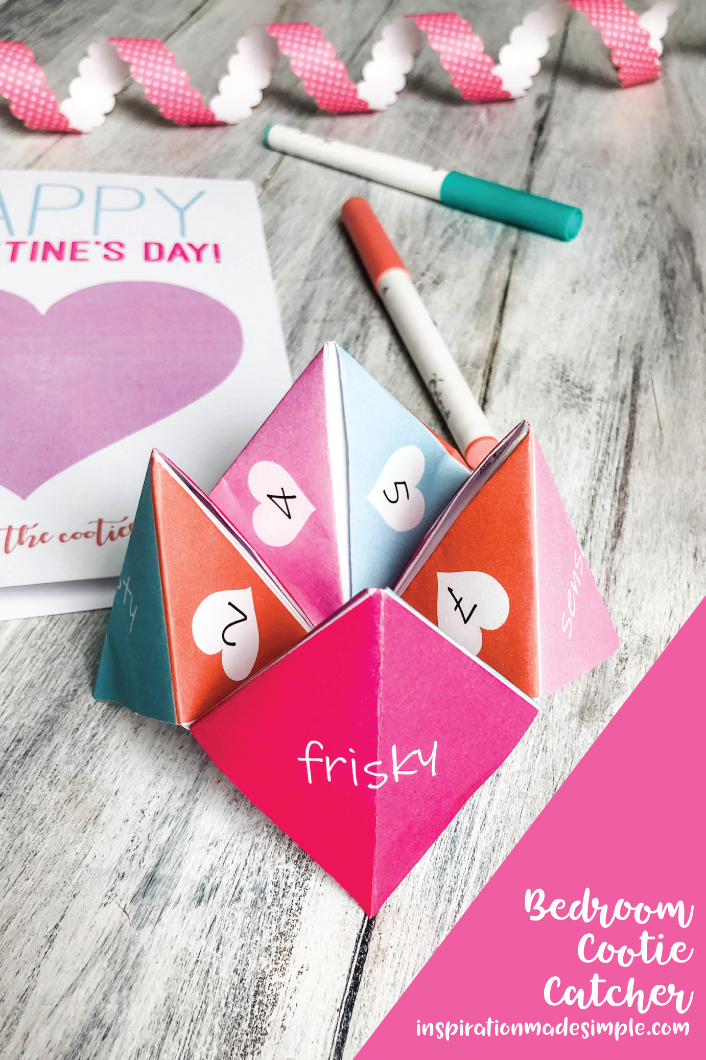 Printable Cootie Catcher Bedroom Game