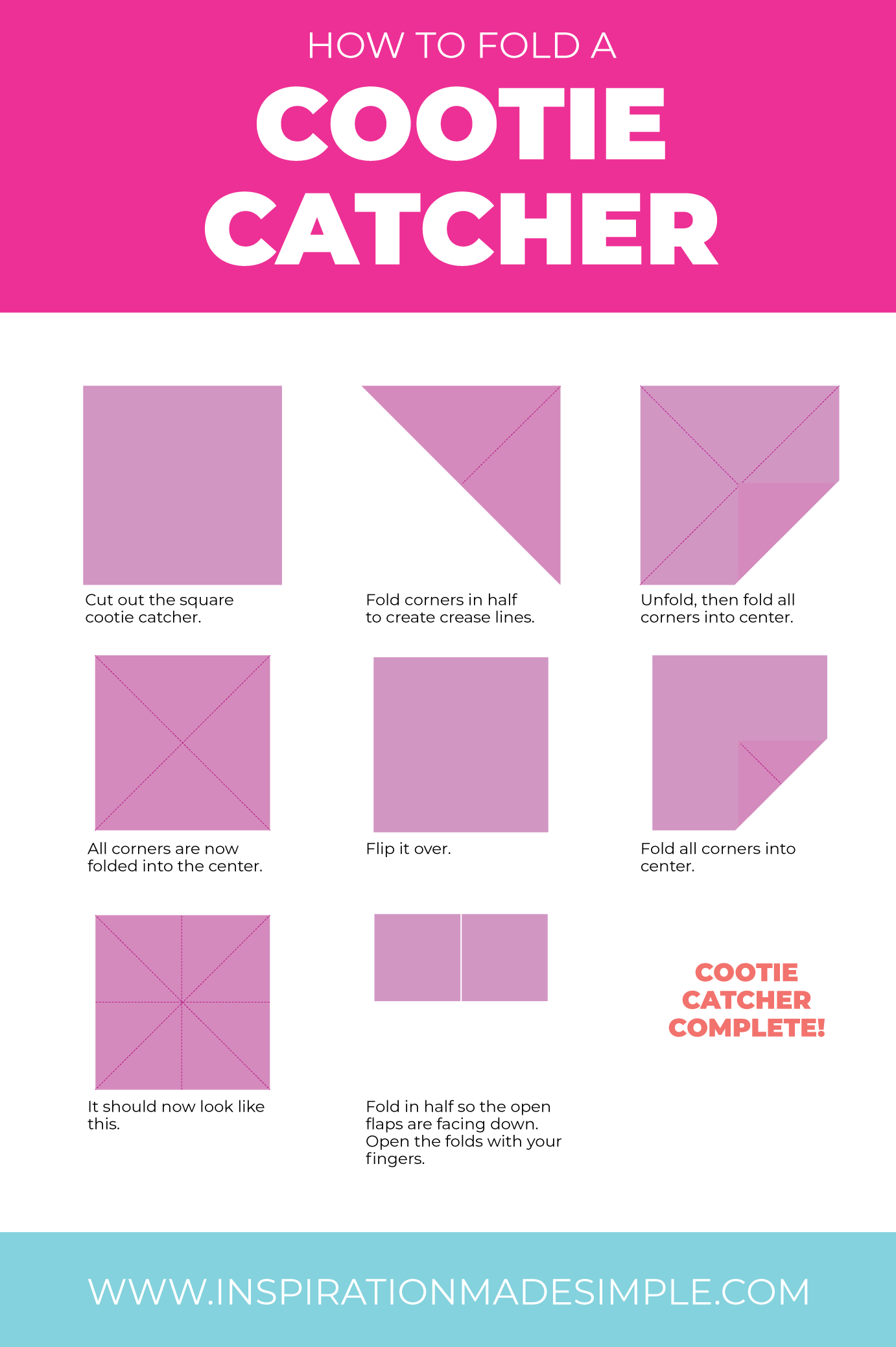 How to fold a cootie catcher