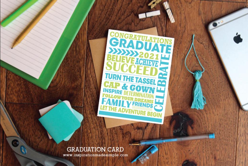 2021 Subway Art Graduation Card