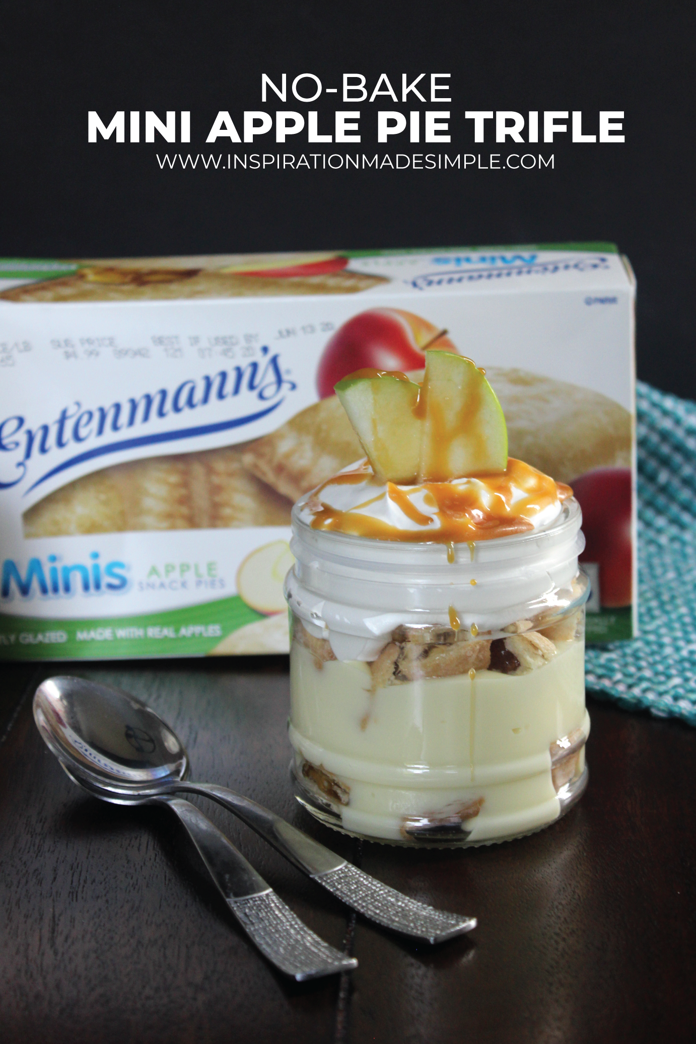 No-Bake Mini Apple Pie Trifle with Entenmann's® Minis Apple Snack Pies