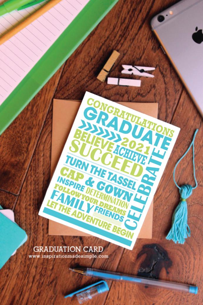 2021 Printable Graduation Card