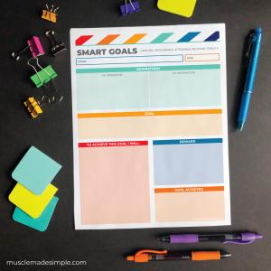 Printable SMART Goal Worksheet