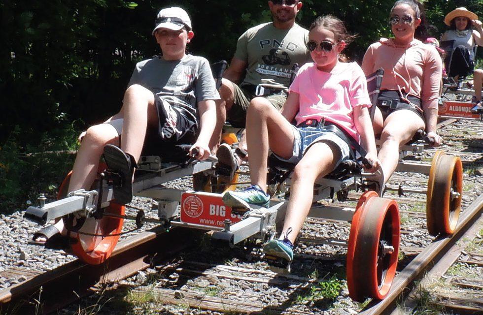 Railbiking in the Adirondacks