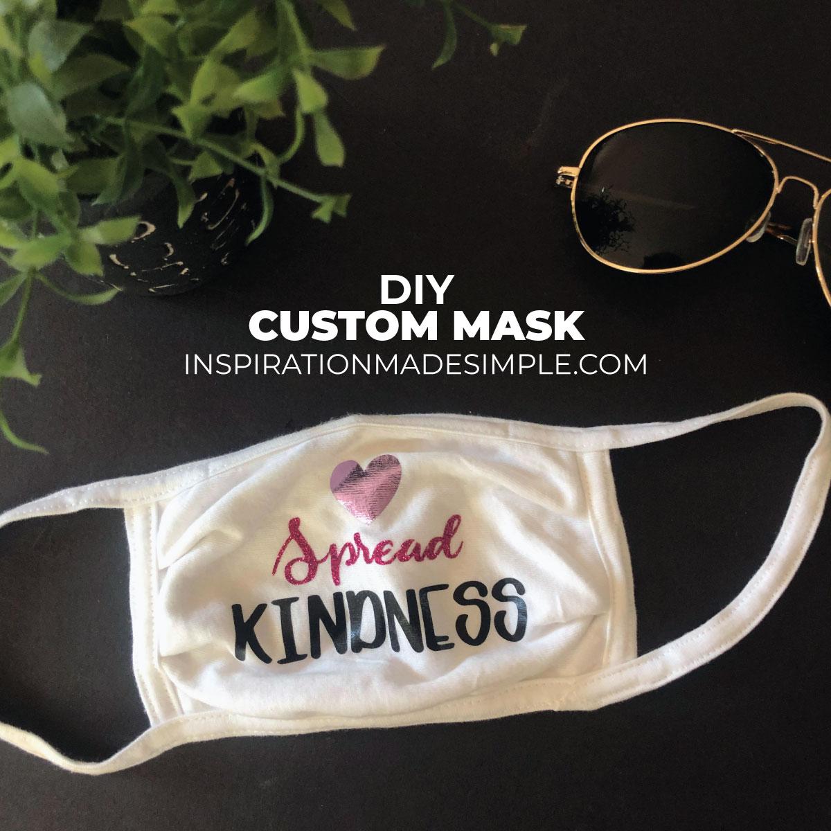 DIY Custom Face Mask with Cricut