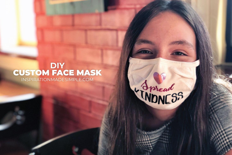 Custom Face Mask with Iron-On Vinyl