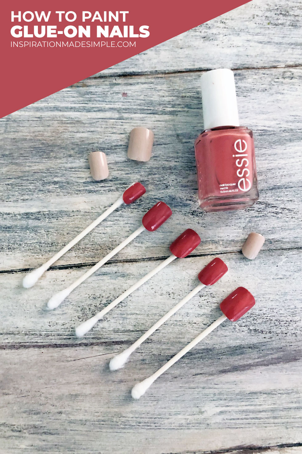 How to paint glue-on nails