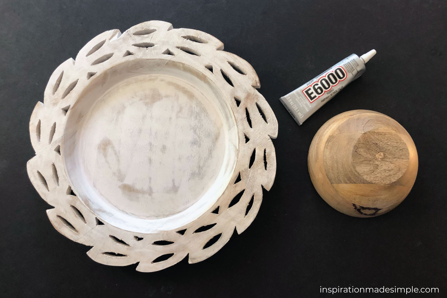 DIY Cake Stand with Platter and Bowl