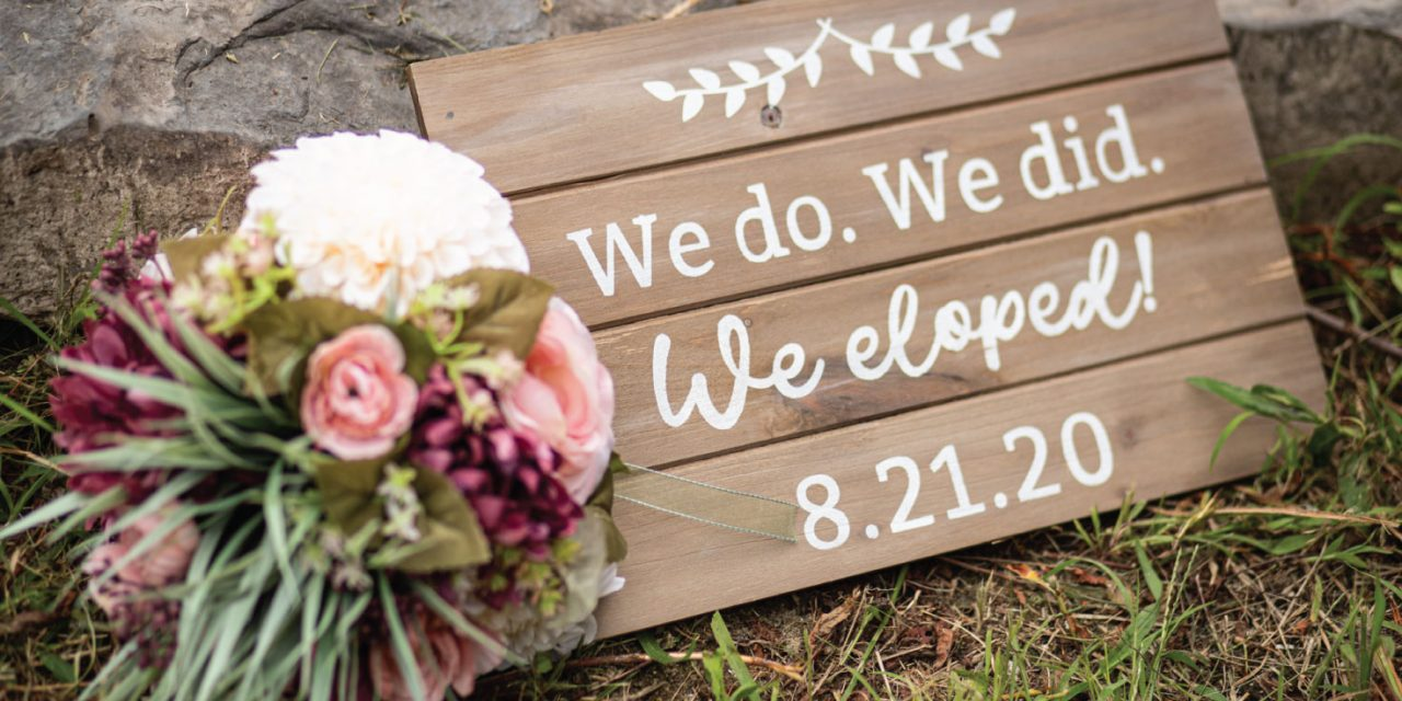 DIY We Eloped Sign