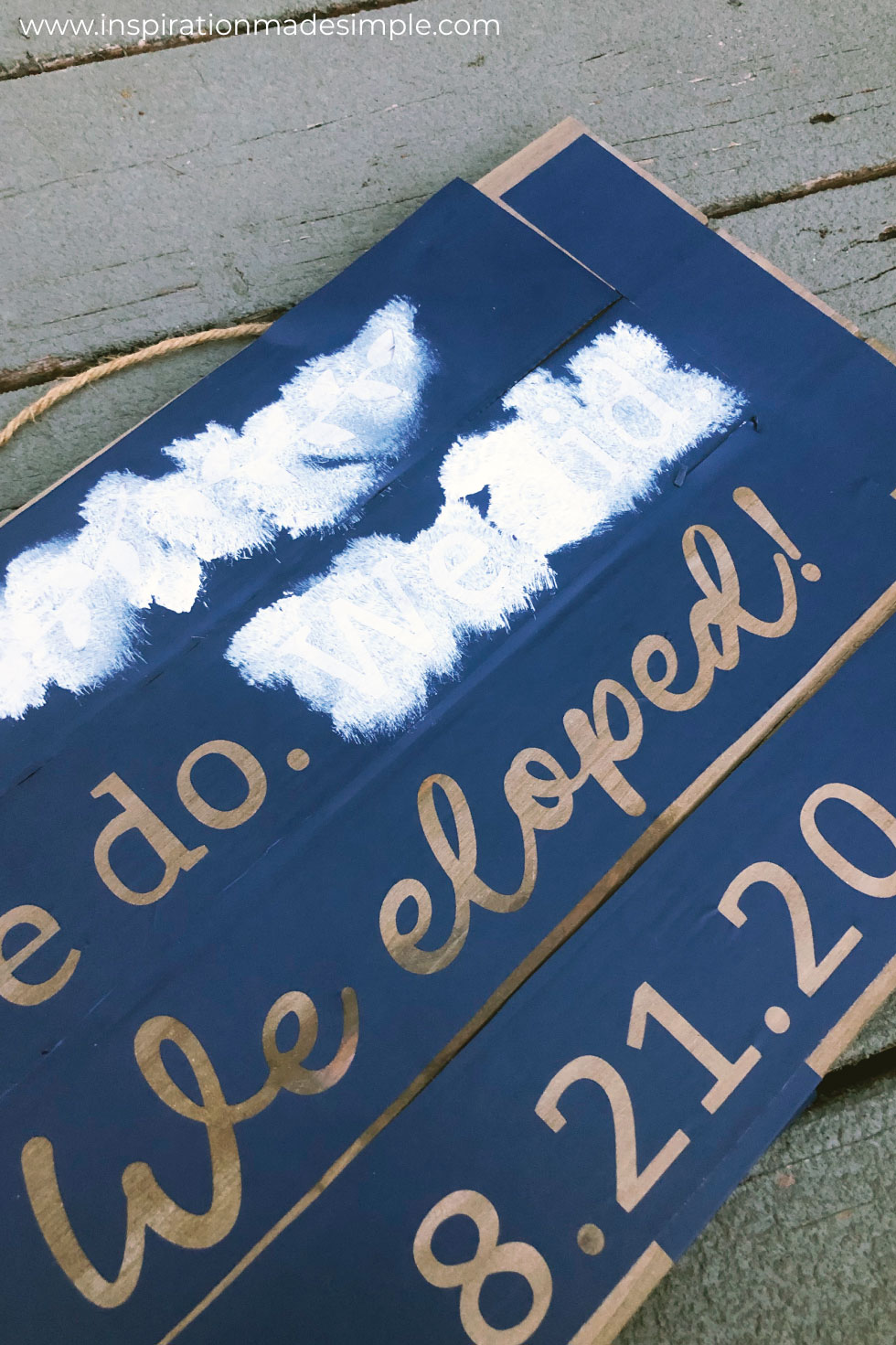 DIY Elopement Sign