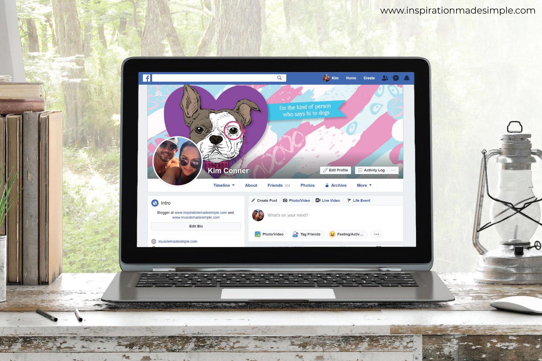 Line Art Dog Facebook Cover
