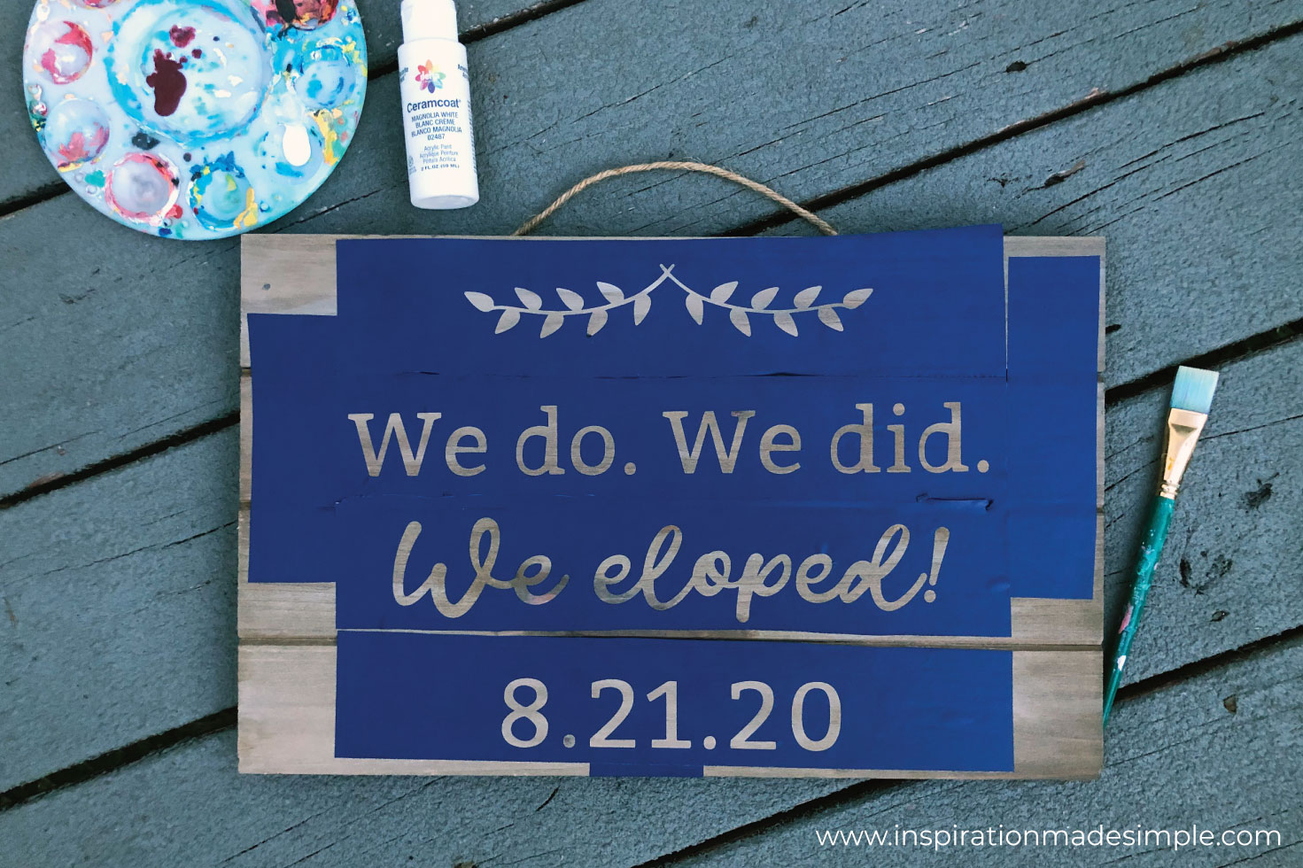DIY Elopement Signs