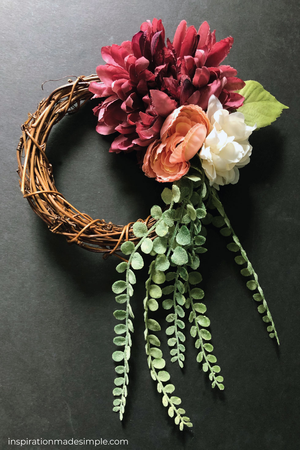 Floral Grapevine Wreath Tutorial