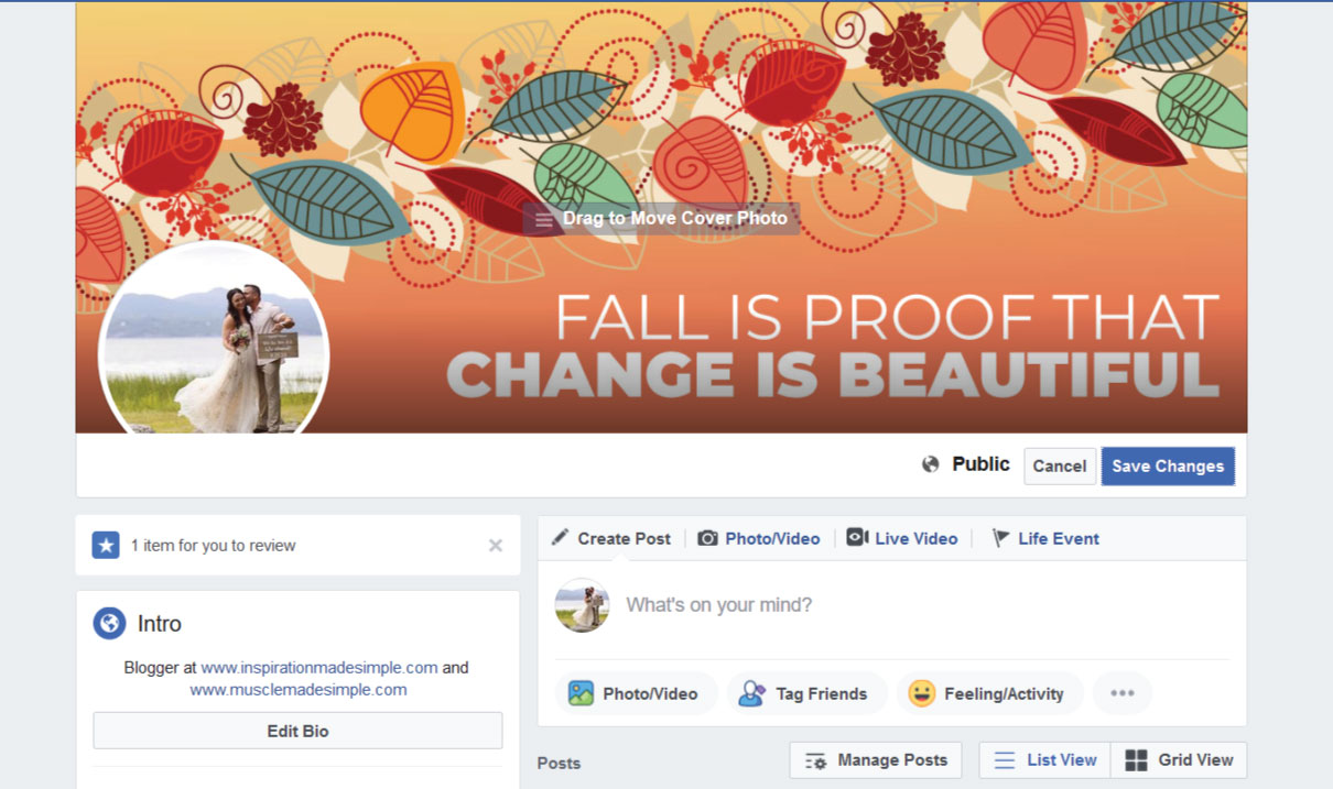 Changing Facebook Cover
