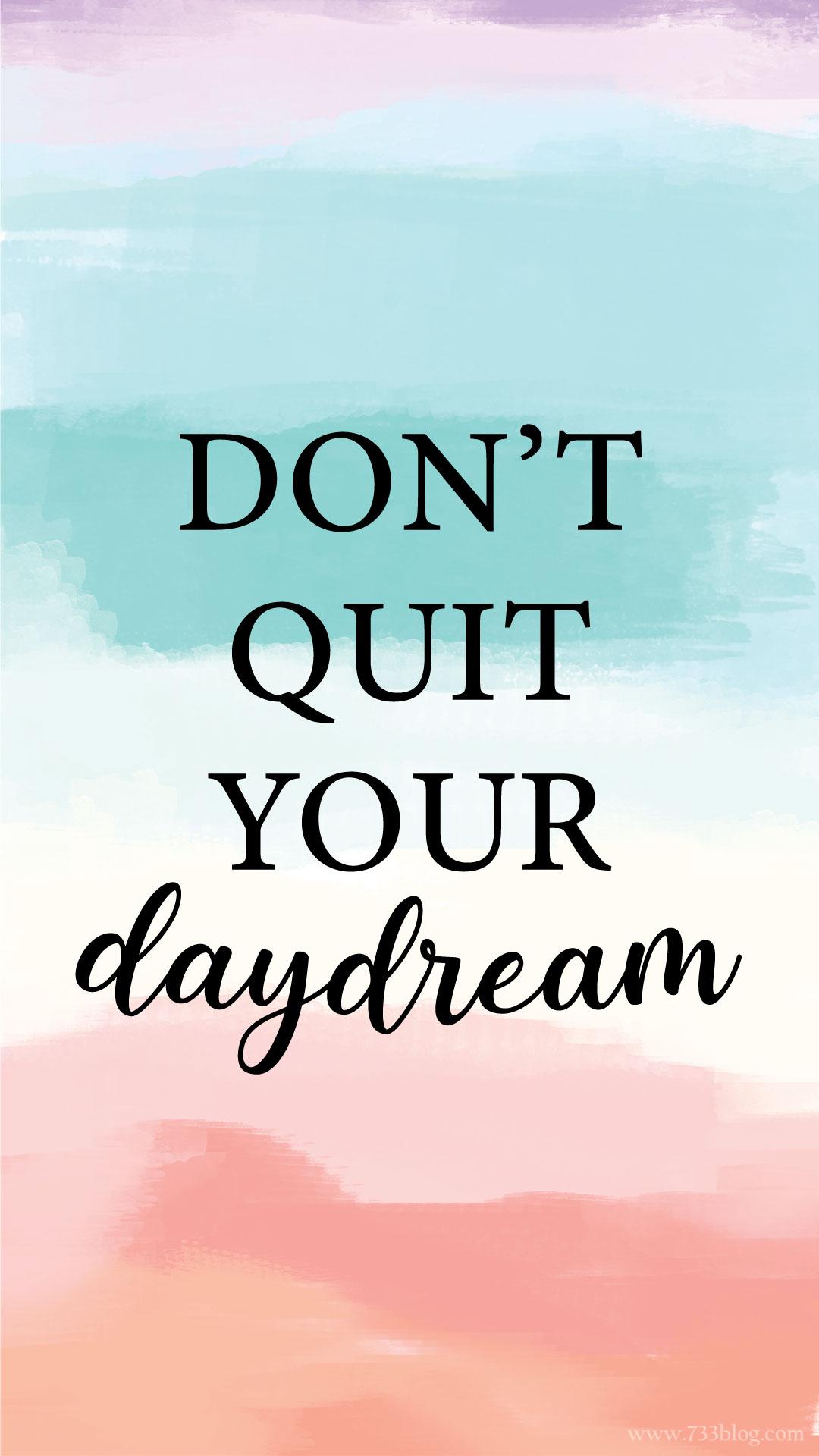 Daydream Watercolor iPhone Wallpaper