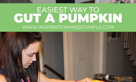 Easiest way to gut a pumpkin