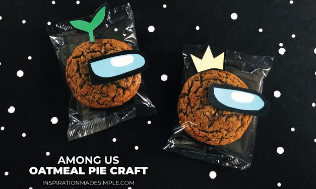 Among Us Inspired Oatmeal Pie Craft