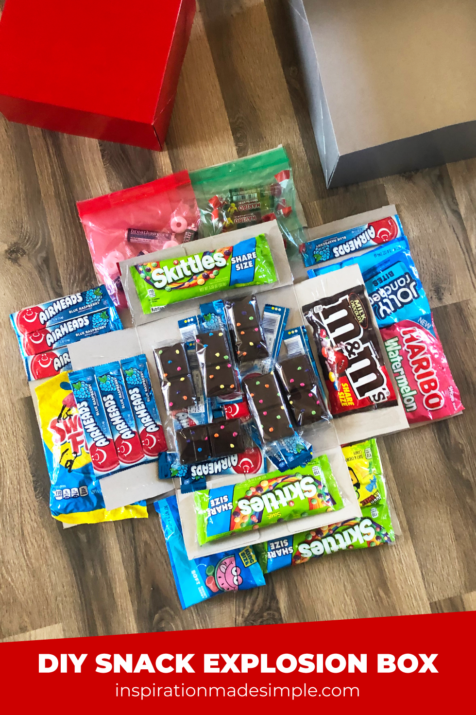 DIY Candy Exploding Box