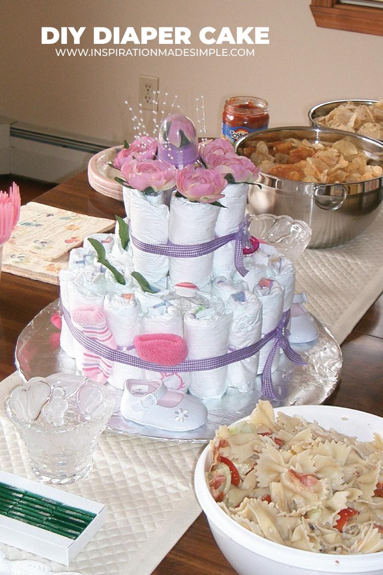 Floral Diaper Cake Idea