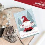 Printable Gnome Holiday Card