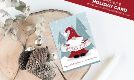 Printable Gnome Holiday Card