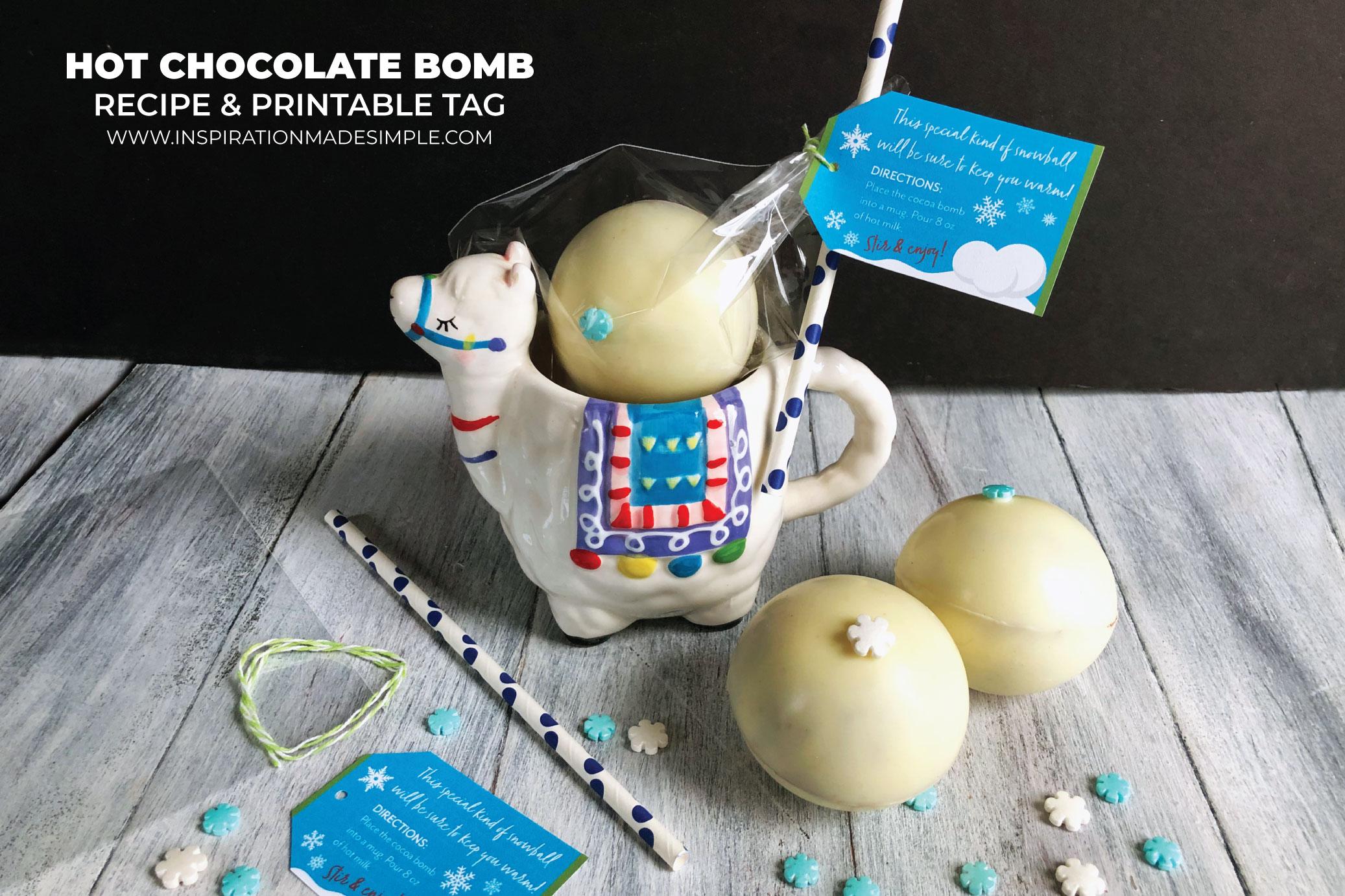 Printable Hot Chocolate Bomb Gift Tags