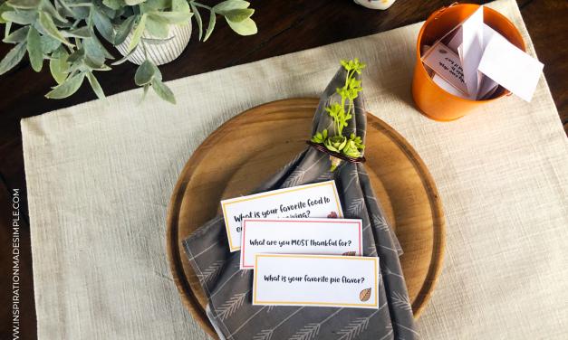 Thanksgiving Conversation Starters Printable