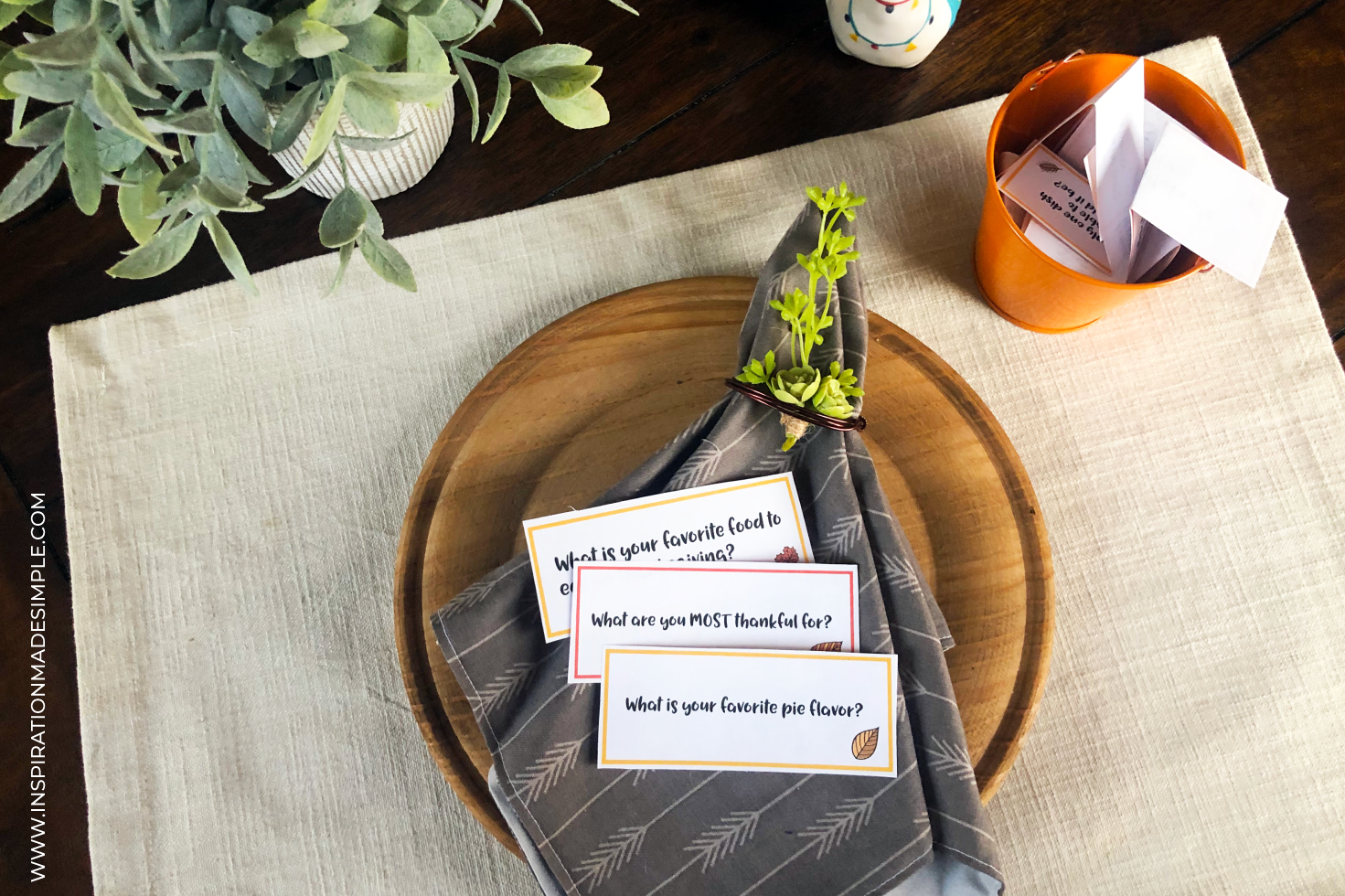 Printable Thanksgiving Dinner Conversation Cards