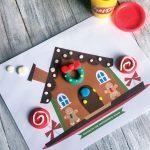 Printable Gingerbread House Playdough Mat