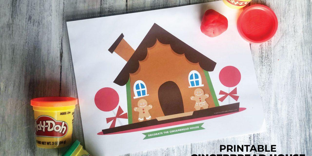 Gingerbread House Playdough Mat