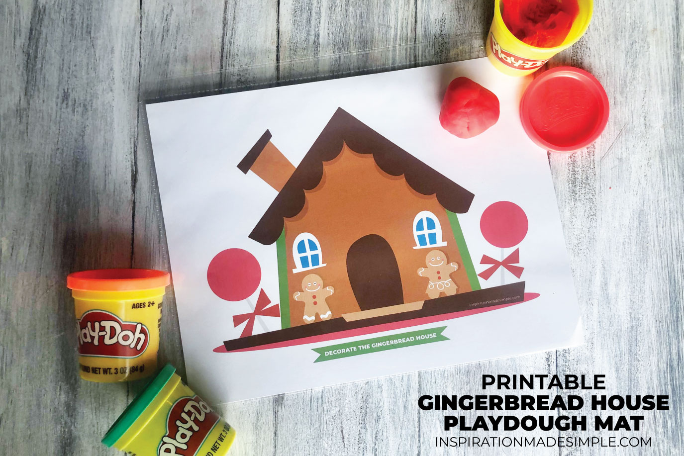 Printable Playdough Mat Boredom Buster