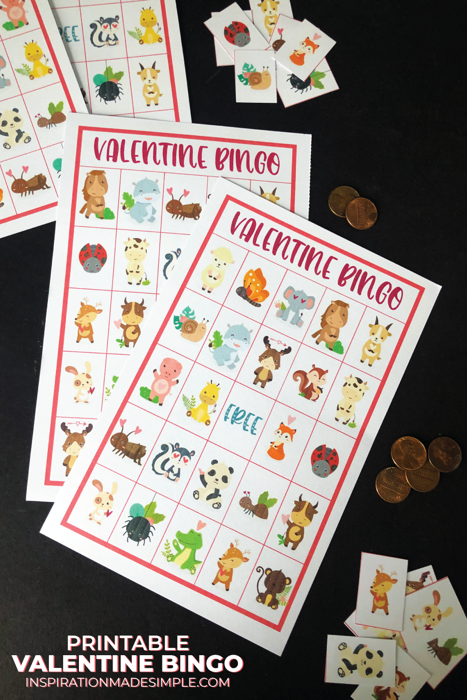Printable Valentine Bingo Game - great for small groups, family game night or a classroom activity!
