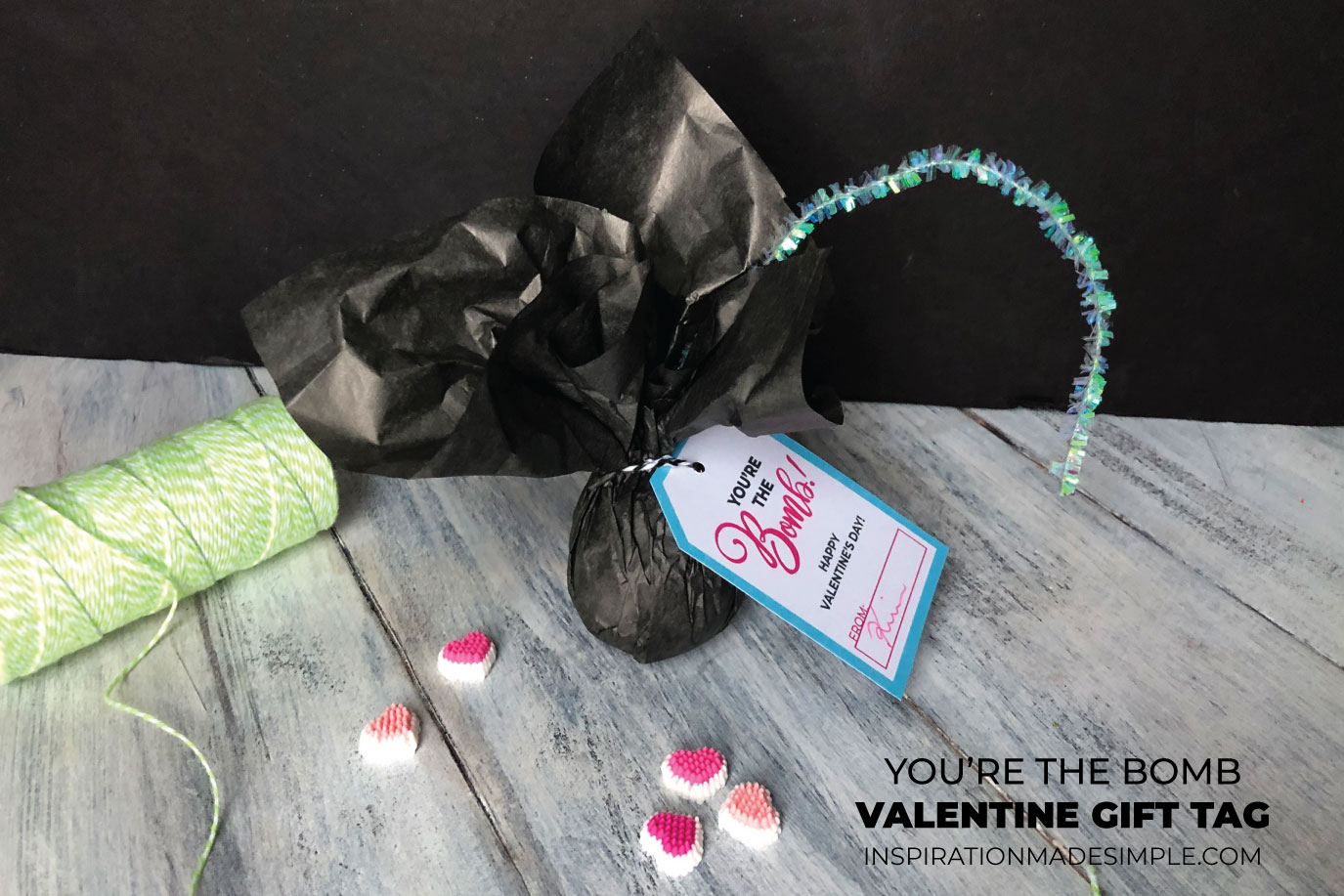 You're the Bomb Valentine's Idea and Printable Tag