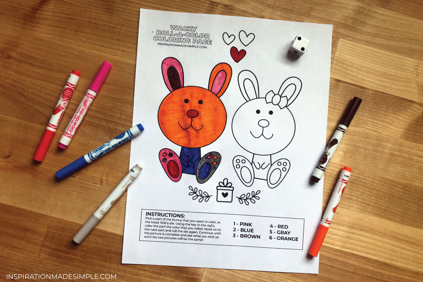 Printable Bunny Coloring Page Activity