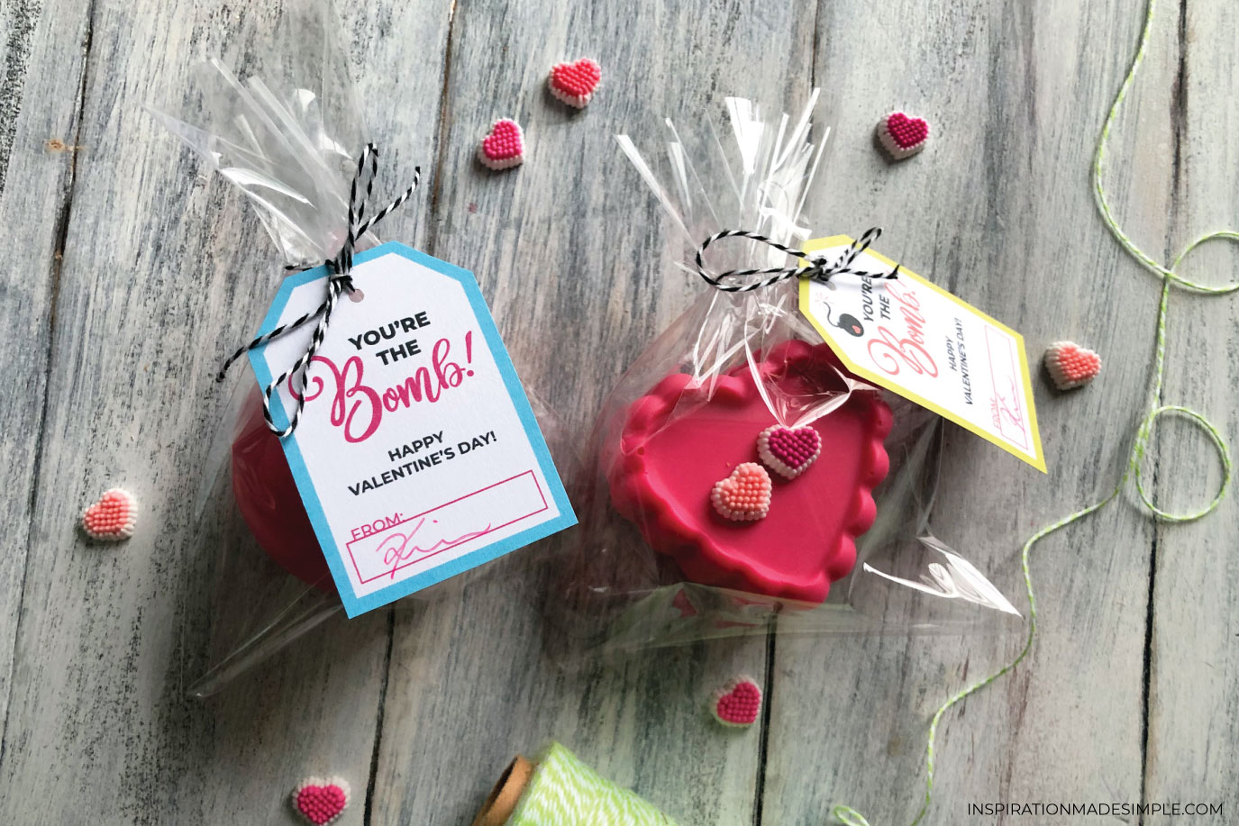 Heart-shaped Hot Chocolate Bombs for Valentine's Day