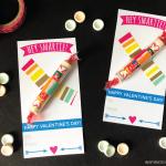 Smartie Valentines with Free Printable