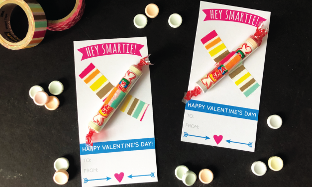 Smartie Valentines with Free Printable