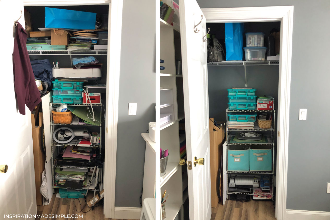 Cleaning and Organizing a Craft Closet