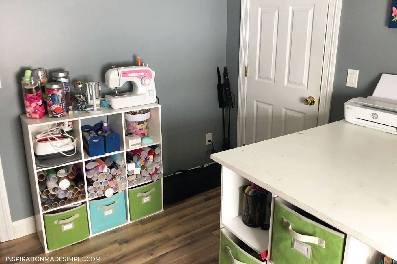 Craft Room Storage Cubbies