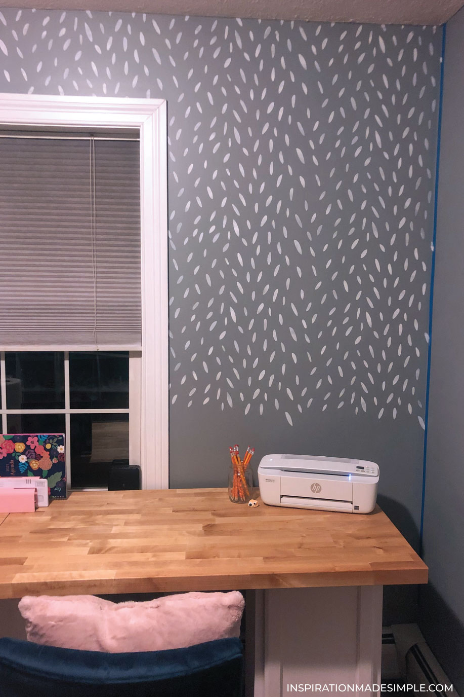 Using a large wall stencil