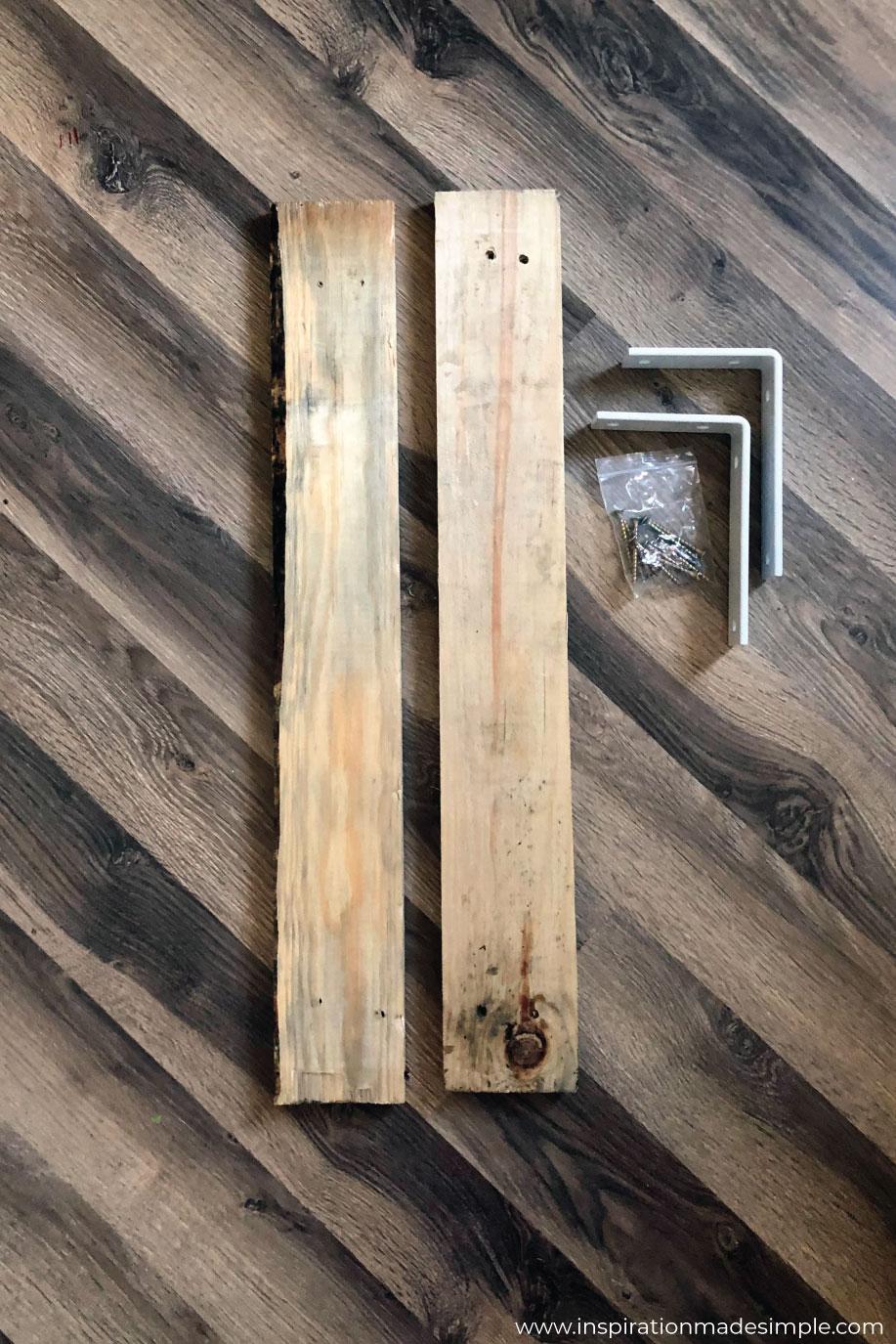 DIY Wood Plank Shelves for under $16