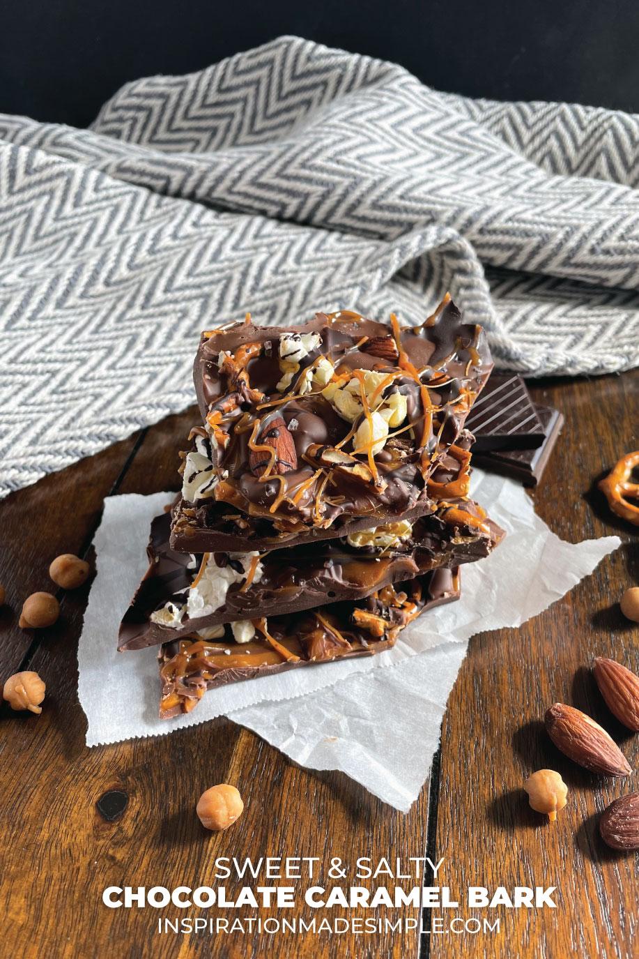 SWEET AND SALTY CHOCOLATE CARAMEL BARK