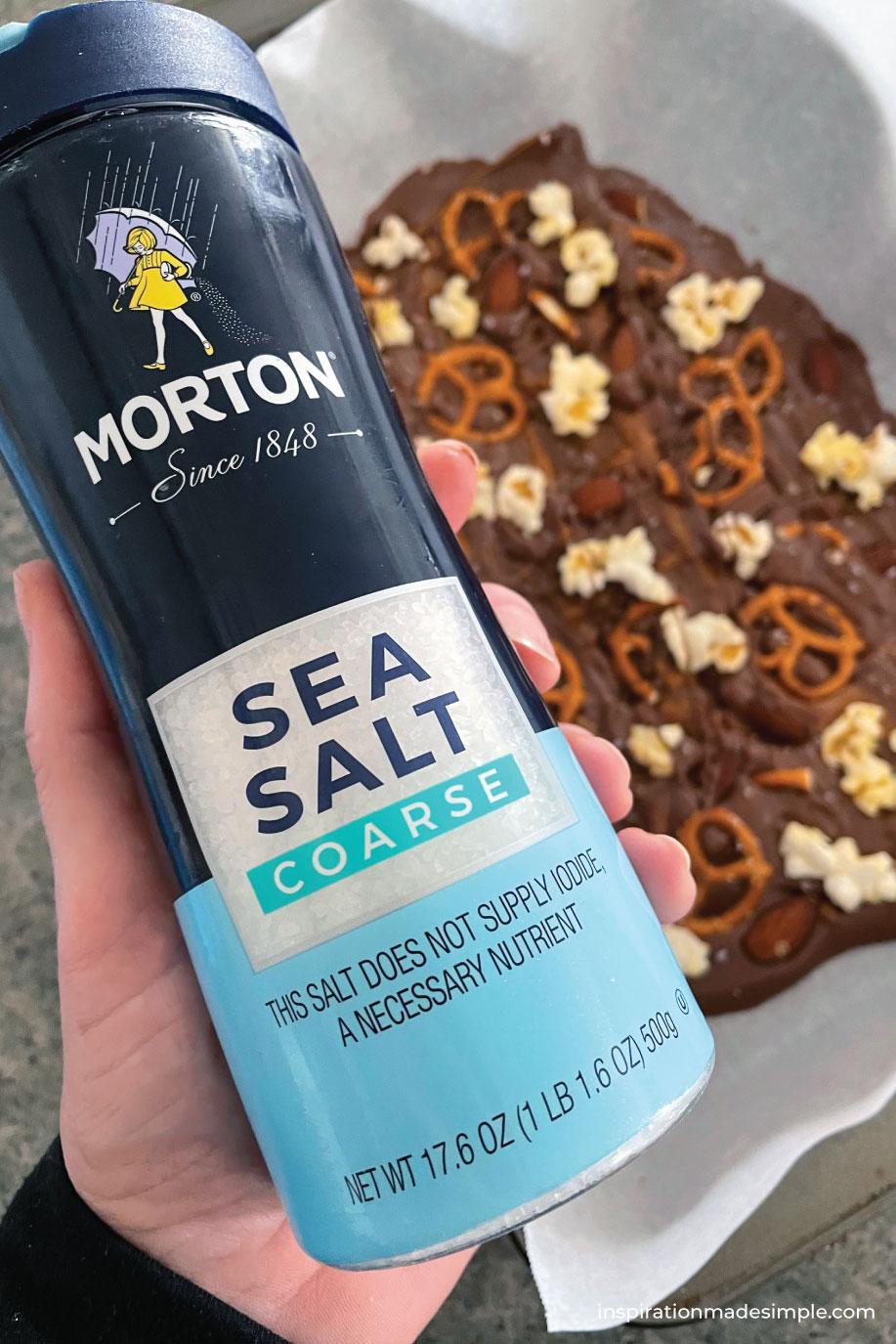 Sea Salt Caramel Chocolate Candy with Pretzels, Popcorns & Almonds