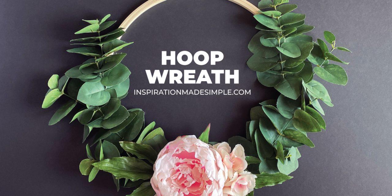 DIY Embroidery Hoop Wreath