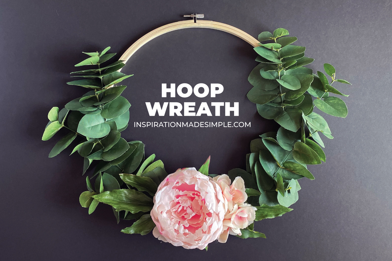 How to make a farmhouse wreath with an embroidery hoop