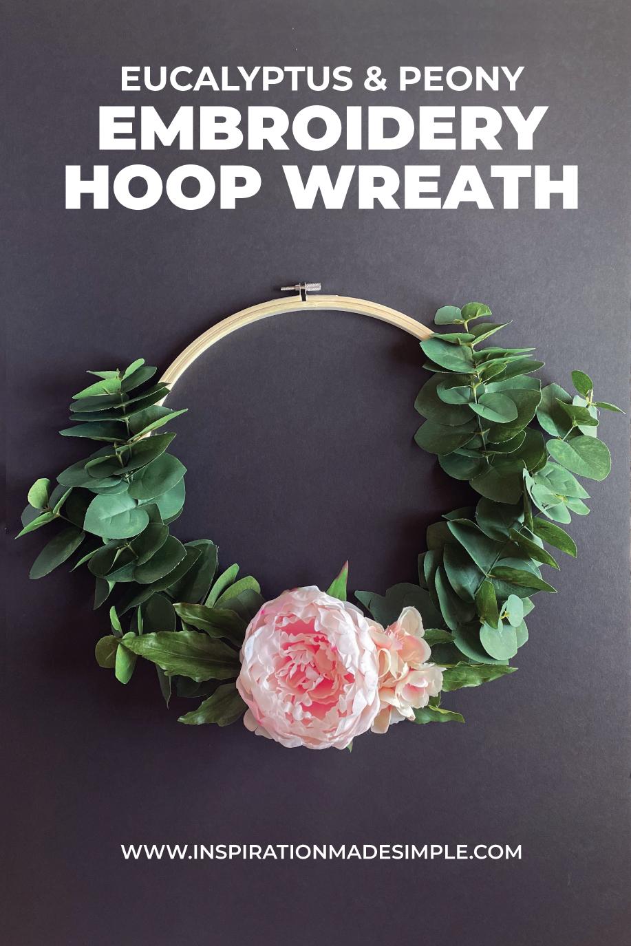 Embroidery Hoop Wreath Tutorail