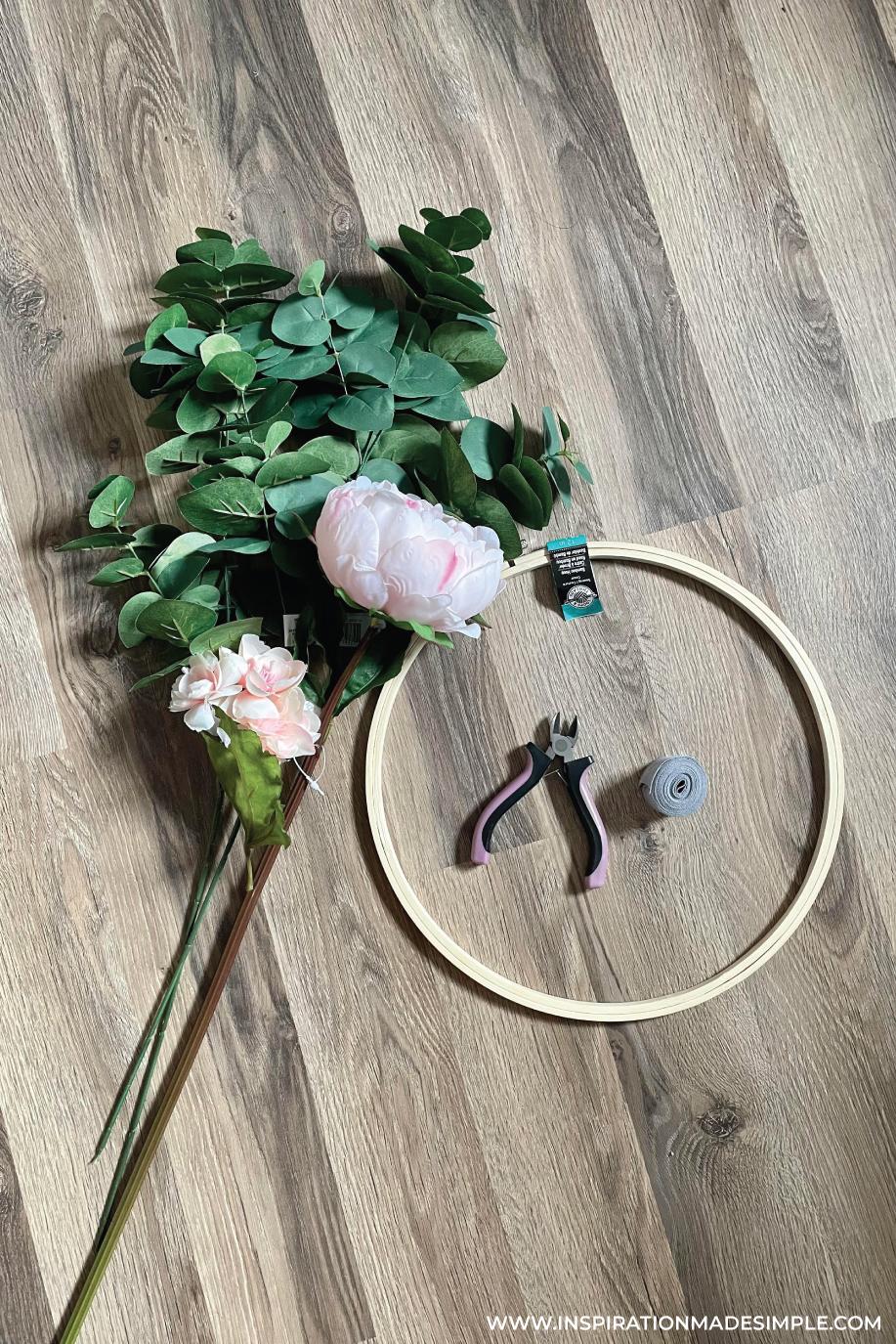 DIY Hoop Wreath Supplies