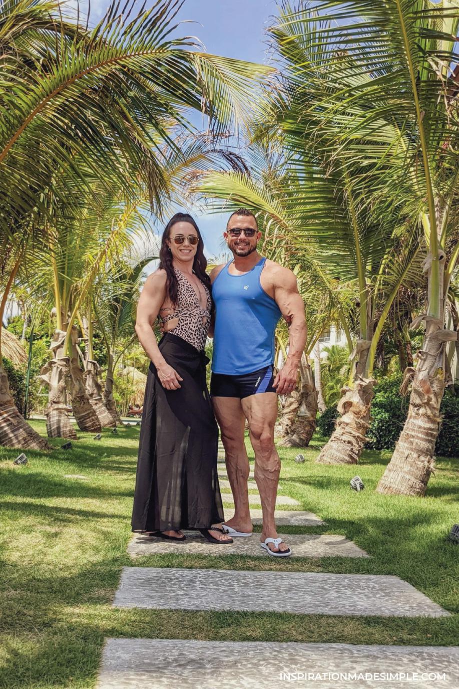 Beautiful landscape design at Dreams Royal Beach in Punta Cana