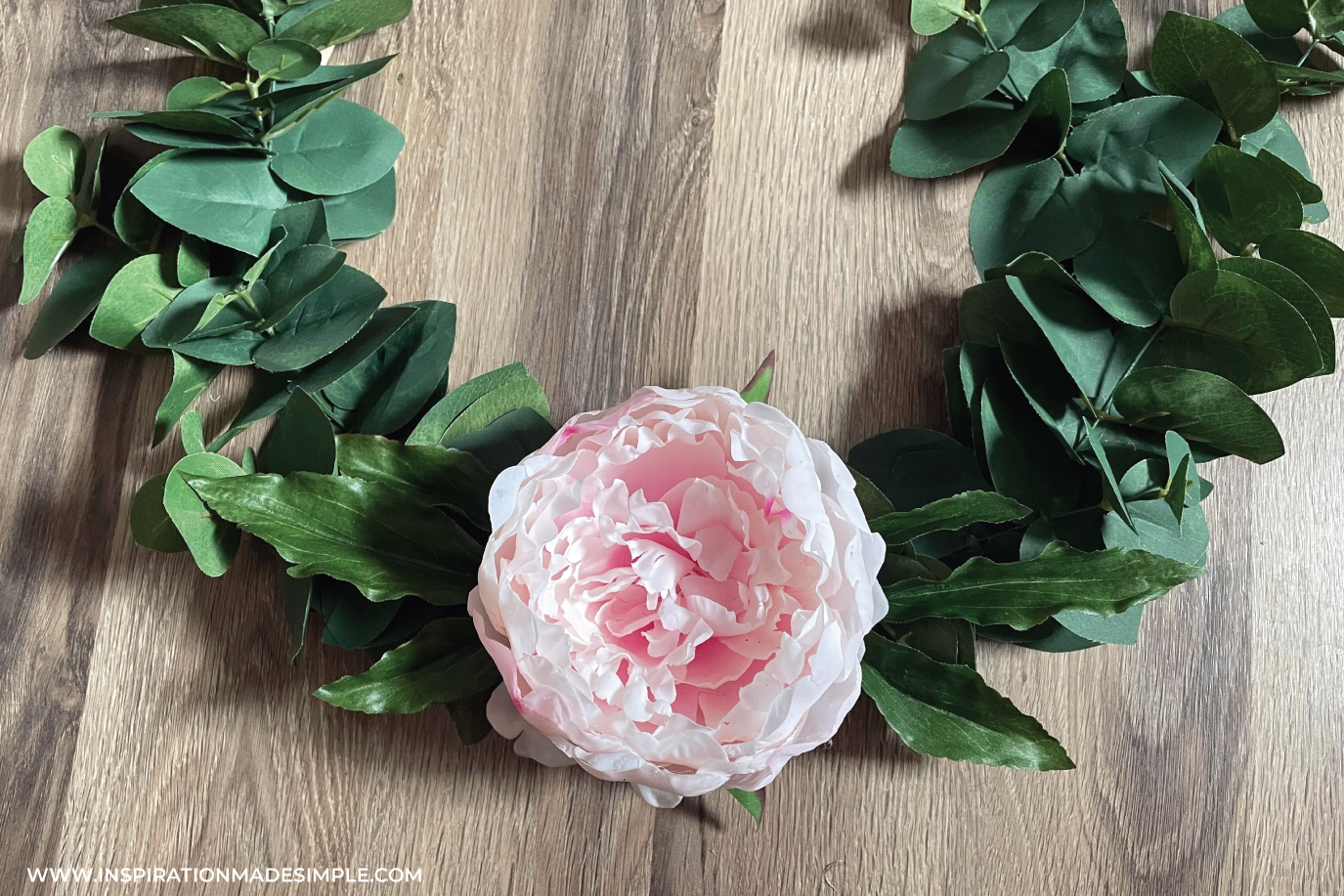 Beautiful DIY Peony Wreath